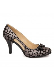 Sandale dama elegante din piele naturala gri 4976