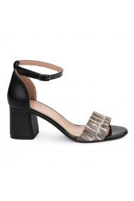 Sandale Elegante Din Piele Naturala neagra 5534