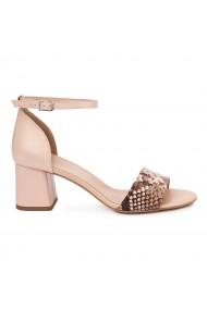 Sandale Elegante Din Piele Naturala bej 5537