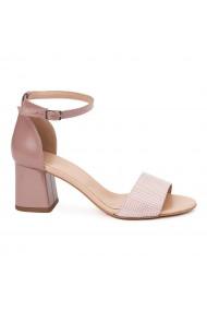 Sandale Elegante Din Piele Naturala bej 5538