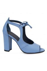 Sandale dama elegante din piele naturala albastra 5544