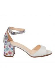 Sandale dama elegante din piele naturala alba 5546
