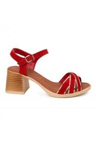 Sandale dama cu platforma din piele naturala 5561