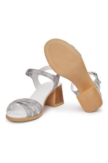 Sandale dama cu platforma din piele naturala 5562