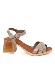 Sandale dama cu platforma din piele naturala 5565