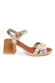 Sandale dama cu platforma din piele naturala 5566