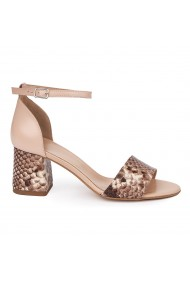 Sandale Elegante Din Piele Naturala bej 5578