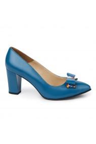 Pantofi dama din piele naturala albastra 4978