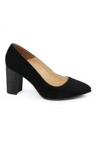 Pantofi dama din piele naturala neagra 4979