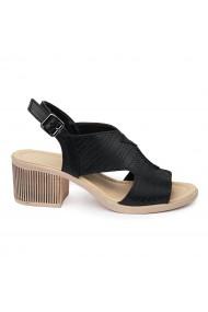Sandale dama cu toc gros din piele naturala 2411