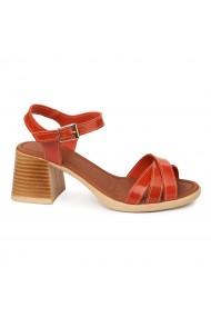 Sandale dama cu toc gros din piele naturala 2412