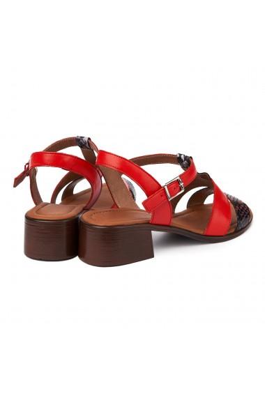 Sandale dama cu toc gros din piele naturala 2413