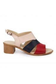 Sandale dama toc gros din piele naturala 2446