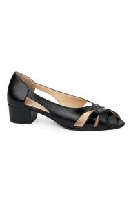Sandale elegante din piele naturala cu toc mic 5582