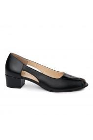Sandale elegante din piele naturala cu toc mic 5584
