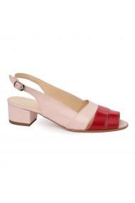 Sandale elegante din piele naturala cu toc mic 5585