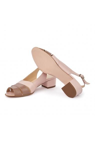 Sandale elegante din piele naturala cu toc mic 5586