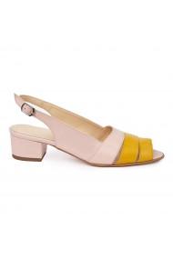 Sandale elegante din piele naturala cu toc mic 5587