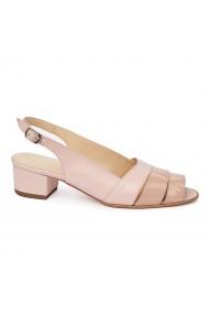 Sandale elegante din piele naturala cu toc mic 5588