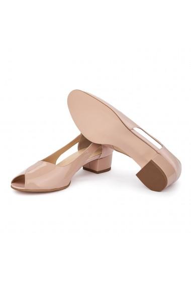 Sandale elegante din piele naturala cu toc mic 5589
