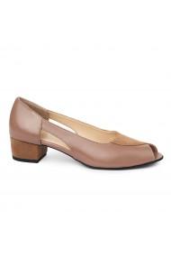 Sandale elegante din piele naturala cu toc mic 5590