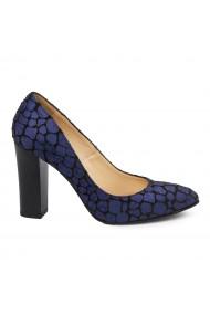 Pantofi dama toc gros din piele naturala 4758