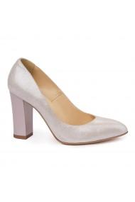 Pantofi dama toc gros din piele naturala 4763
