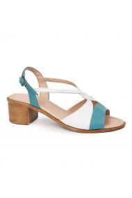 Sandale elegante din piele naturala cu toc mic 5695