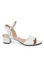 Sandale elegante din piele naturala cu toc mic 5696