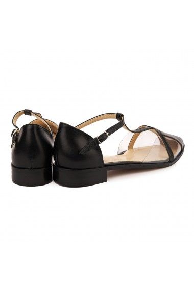 Sandale elegante din piele naturala cu toc mic 5731