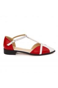Sandale elegante din piele naturala cu toc mic 5734