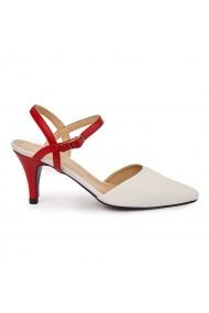 Sandale elegante din piele naturala cu toc mic 5743
