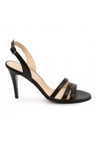Sandale elegante din piele naturala neagra 5747