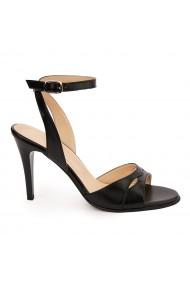 Sandale elegante din piele naturala neagra 5748