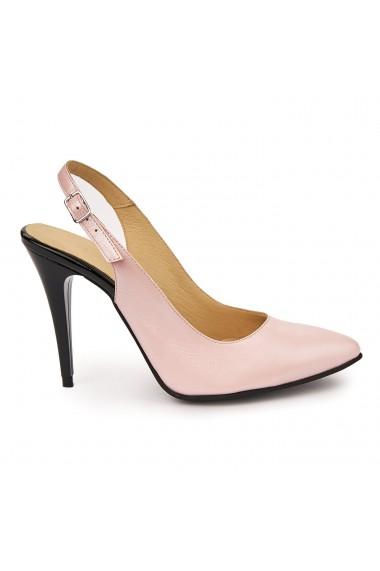 Sandale elegante din piele naturala roz 5754