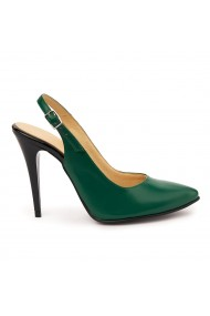 Sandale elegante din piele naturala verde 5755
