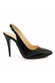 Sandale elegante din piele naturala neagra 5756