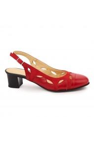 Sandale elegante din piele naturala rosie 5760