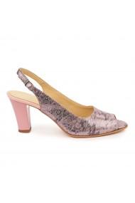 Sandale elegante din piele naturala roz 5763