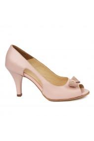 Sandale elegante din piele naturala roz pal 5987