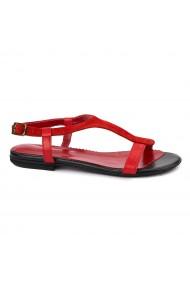 Sandale dama din piele naturala cu toc mic 5715