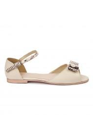 Sandale dama din piele naturala cu toc mic 5716