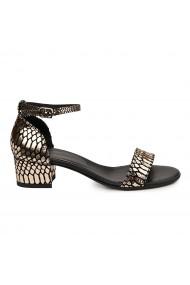 Sandale dama din piele naturala cu toc mic 5720