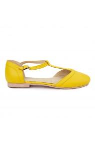 Sandale dama din piele naturala cu toc mic 5718