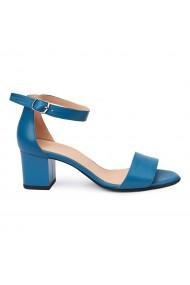 Sandale elegante din piele naturala albastra 5787