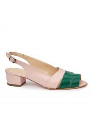 Sandale elegante din piele naturala cu toc mic 5789