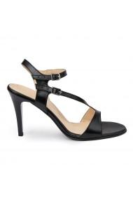 Sandale elegante din piele naturala neagra 5790