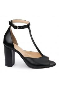 Sandale elegante din piele naturala cu toc gros 5792
