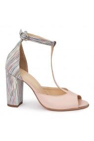 Sandale elegante din piele naturala cu toc gros 5793