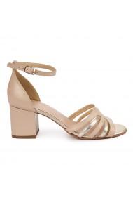 Sandale elegante din piele naturala bej 5622